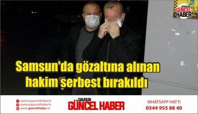 Samsun'da gözaltına alınan hakim serbest bırakıldı