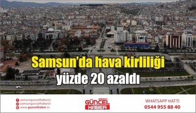 Samsun'da hava kirliliği yüzde 20 azaldı