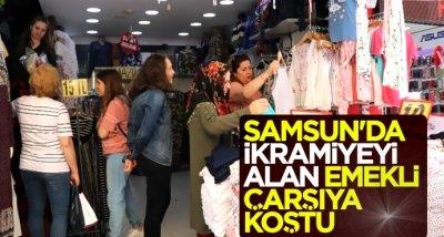 Samsun'da ikramiyeyi alan emekli çarşıya koştu