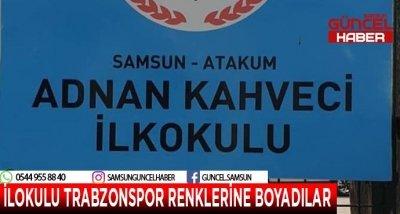 SAMSUN'DA İLOKULU TRABZONSPOR RENKLERİNE BOYADILAR