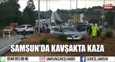 SAMSUN'DA KAVŞAKTA KAZA