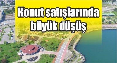 Samsun'da konut satışlarında büyük düşüş