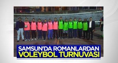 Samsun'da romanlardan voleybol turnuvası