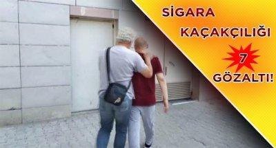 Samsun'da sigara kaçakçılığı operasyonu: 7 gözaltı