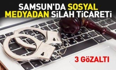 Samsun'da sosyal medyadan silah ticareti