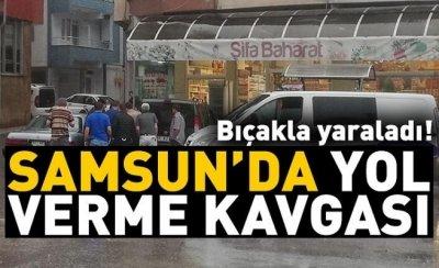 Samsun'da yol verme kavgası
