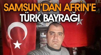 Samsun'dan Afrin'e Türk Bayrağı