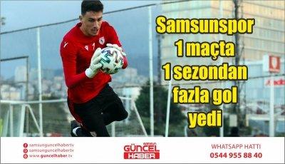 Samsunspor 1 maçta 1 sezondan fazla gol yedi