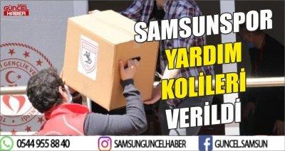 SAMSUNSPOR YARDIM KOLİLERİ VERİLDİ