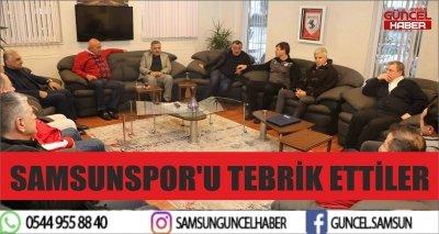 SAMSUNSPOR'U TEBRİK ETTİLER