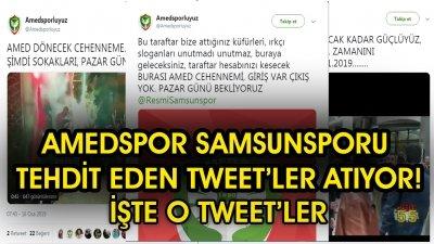 SON DAKİKA! SAMSUNSPOR AMEDSPOR MAÇI ÖNCESİ SAMSUN'A TEHDİT!!!