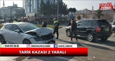 TARİK KAZASI 2 YARALI