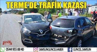 TERME'DE TRAFİK KAZASI