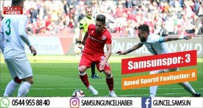 TFF 2. Lig: Samsunspor: 3 - Amed Sportif Faaliyetler: 0