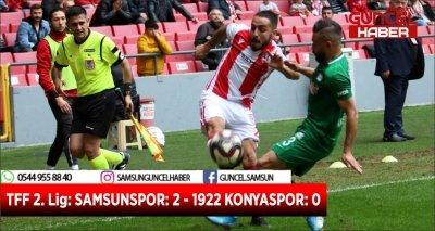 TFF 2. Lig: SAMSUNSPOR: 2 - 1922 KONYASPOR: 0