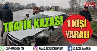 TRAFİK KAZASI 1 YARALI