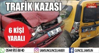 TRAFİK KAZASI 6 YARALI