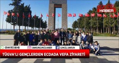TÜGVA'LI GENÇLERDEN ECDADA VEFA ZİYARETİ