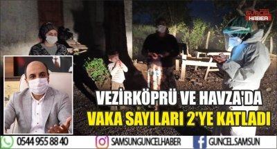 VEZİRKÖPRÜ VE HAVZA'DA VAKA SAYILARI 2'YE KATLADI
