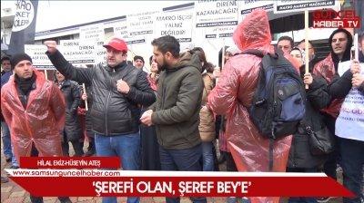 """""""Samsun'daki Makro Market çalışanlarından eylem"""""""